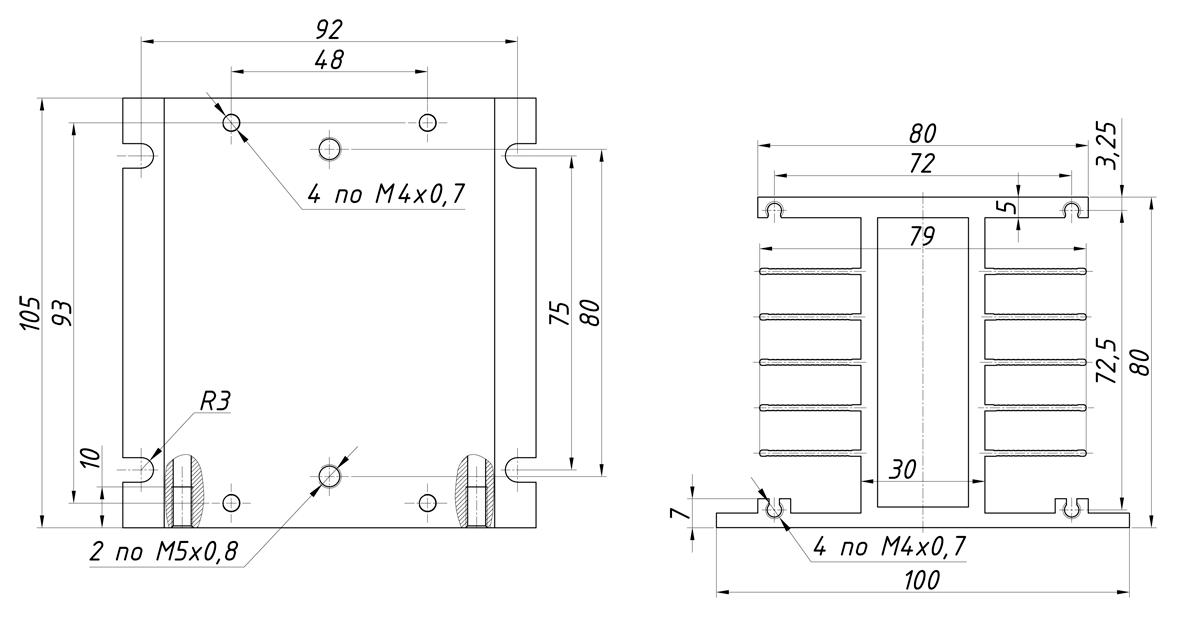 чертеж радиатора KIPPRIBOR РТР034