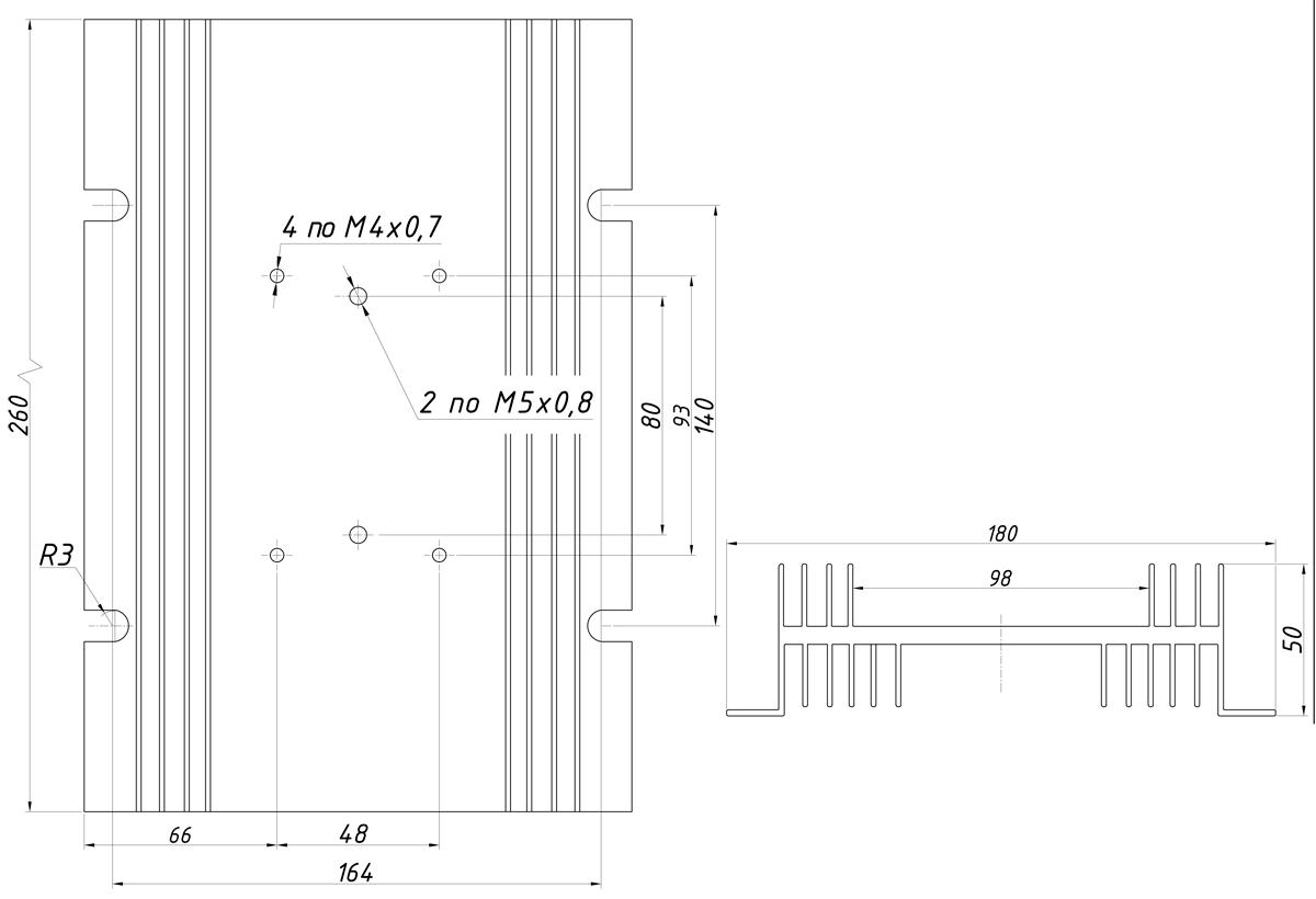 чертеж радиатора KIPPRIBOR РТР037