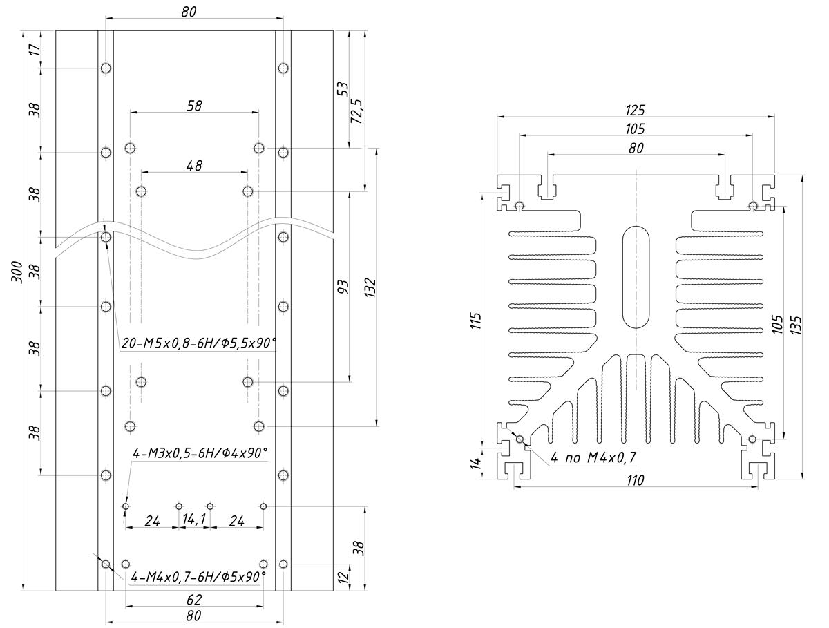 чертеж радиатора KIPPRIBOR РТР040