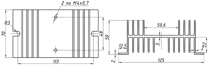 чертеж радиатора KIPPRIBOR РТР061