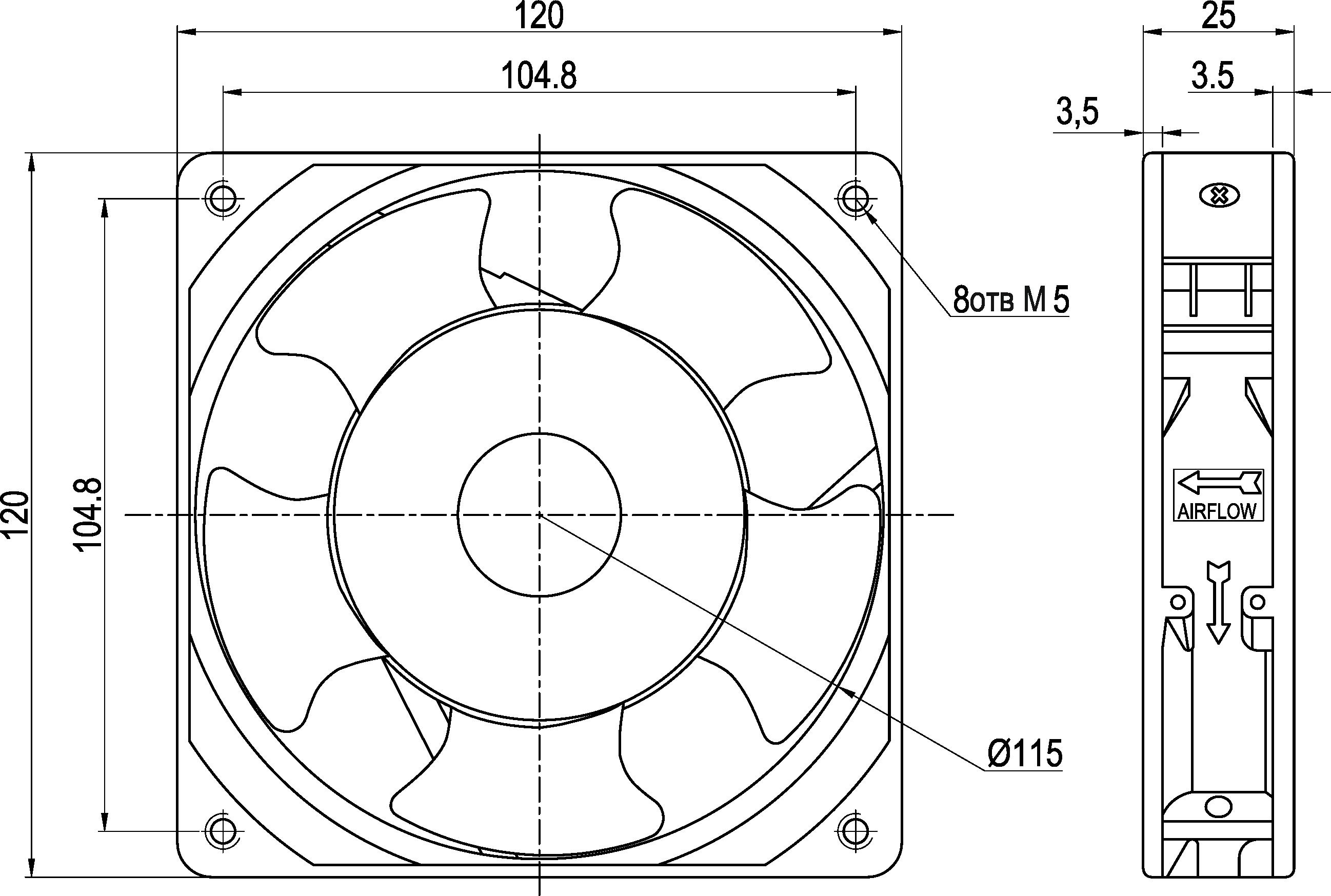VENT-12025.220VAC.5MSHB