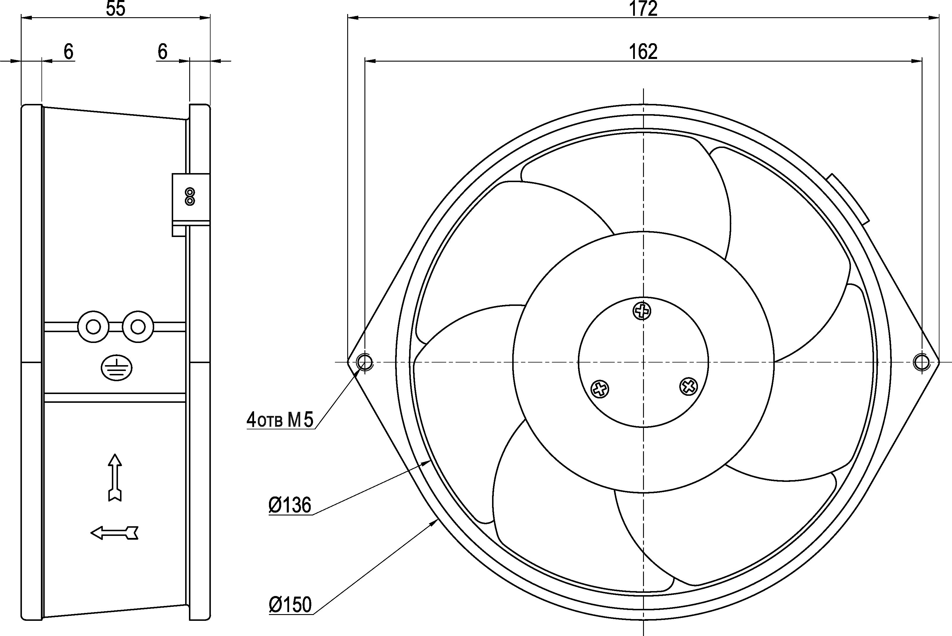 VENT-17251.220VAC.7MOHB.H10