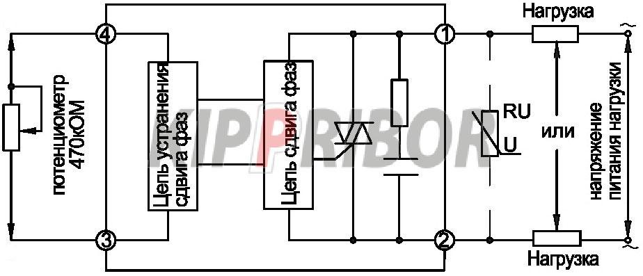 Схема включения серия HD-xx44.