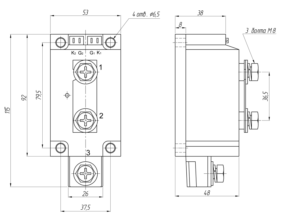 Реле серий GaDH-500120.ZD3, GaDH-600120.ZD3