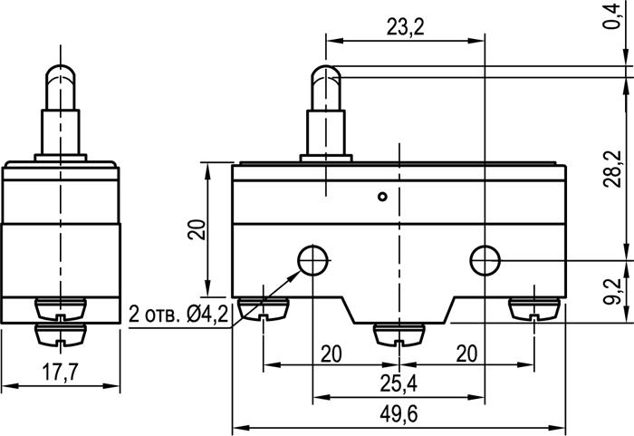 Концевой выключатель KLS-A515C