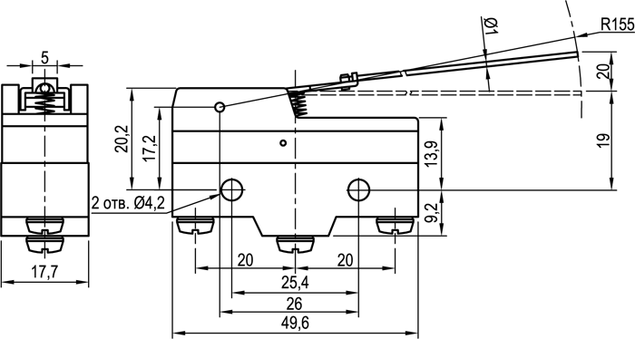 Концевой выключатель KLS-A515R