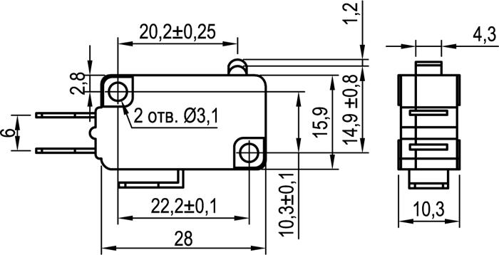 Микровыключатель KLS-A1000.M