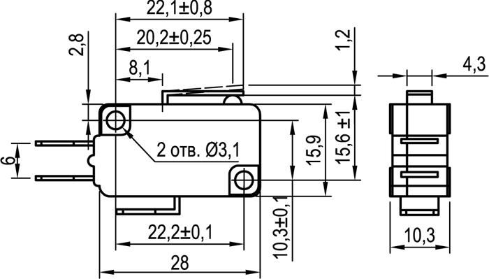 Микровыключатель KLS-A1010.M
