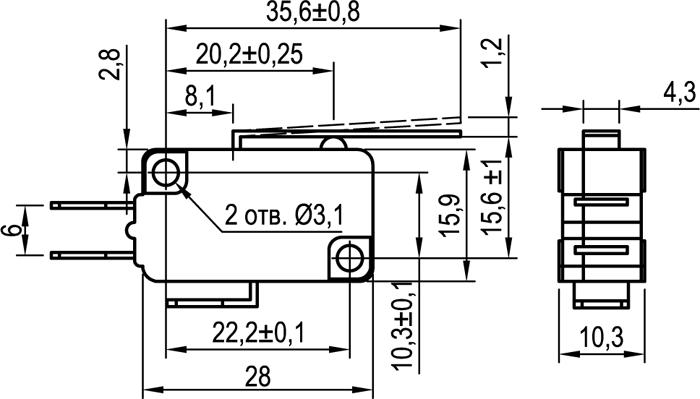 Микровыключатель KLS-A1020.M