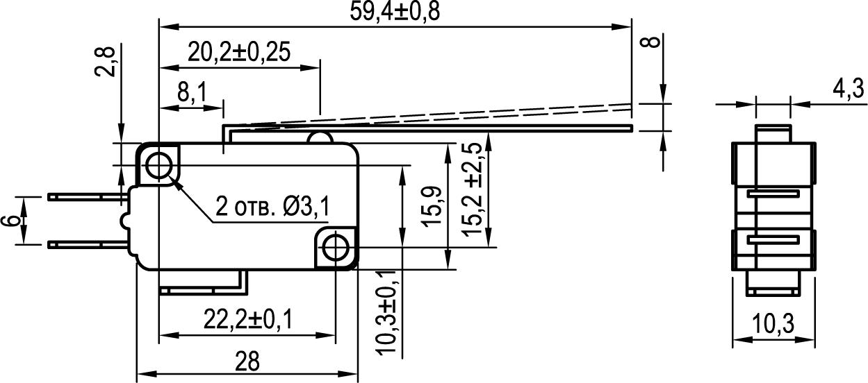 Микровыключатель KLS-A1030.M