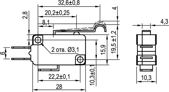 Микровыключатель KLS-A1040.M