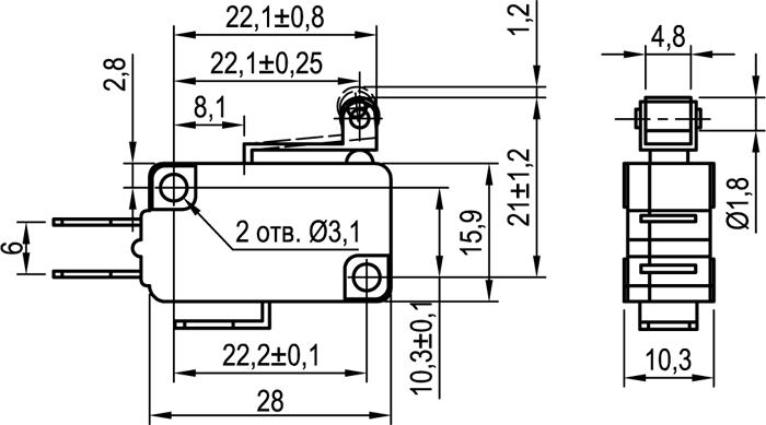 Микровыключатель KLS-A1050.M