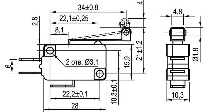 Микровыключатель KLS-A1060.M