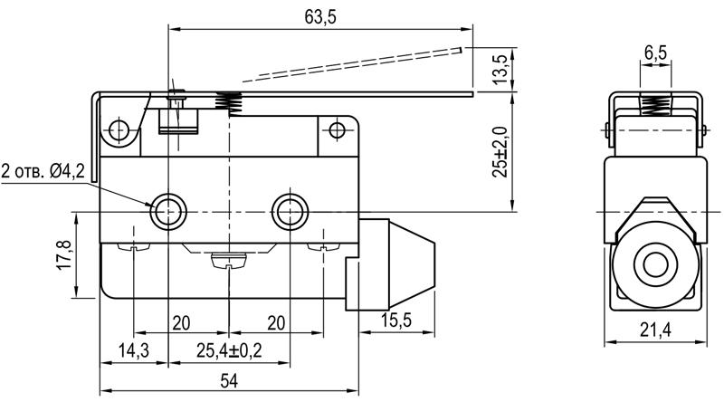 Концевой выключатель KLS-A7.7120