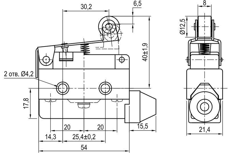 Концевой выключатель KLS-A7.7141