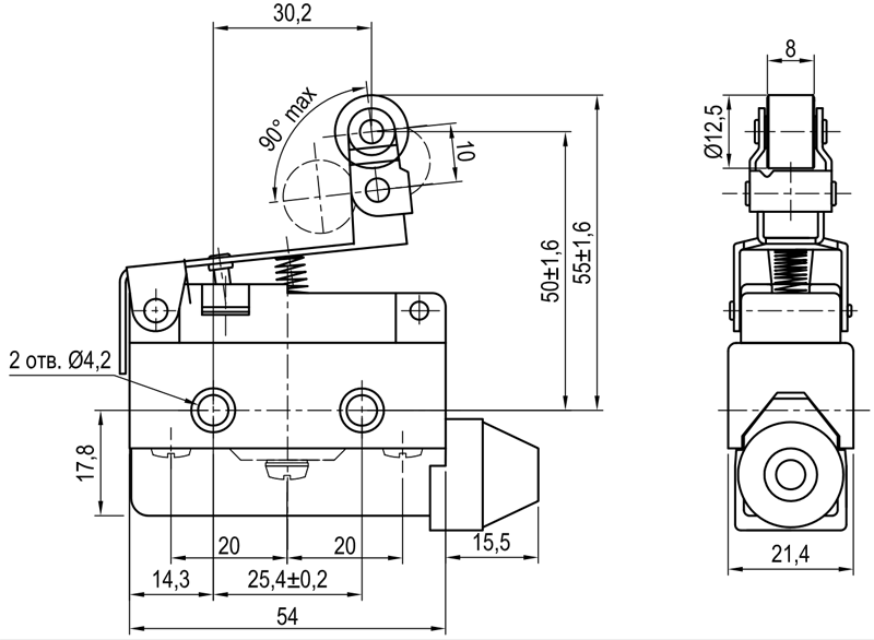 Концевой выключатель KLS-A7.7144