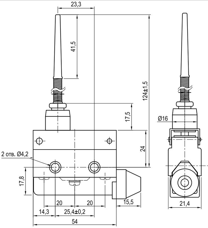 Концевой выключатель KLS-A7.7166