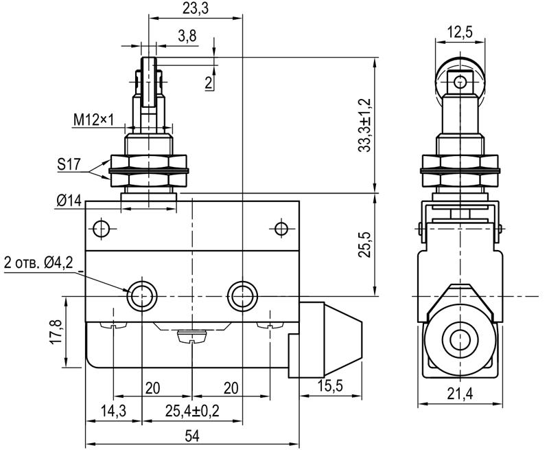 Концевой выключатель KLS-A7.7312