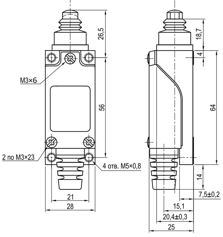 Концевой выключатель KLS-AZ.8111