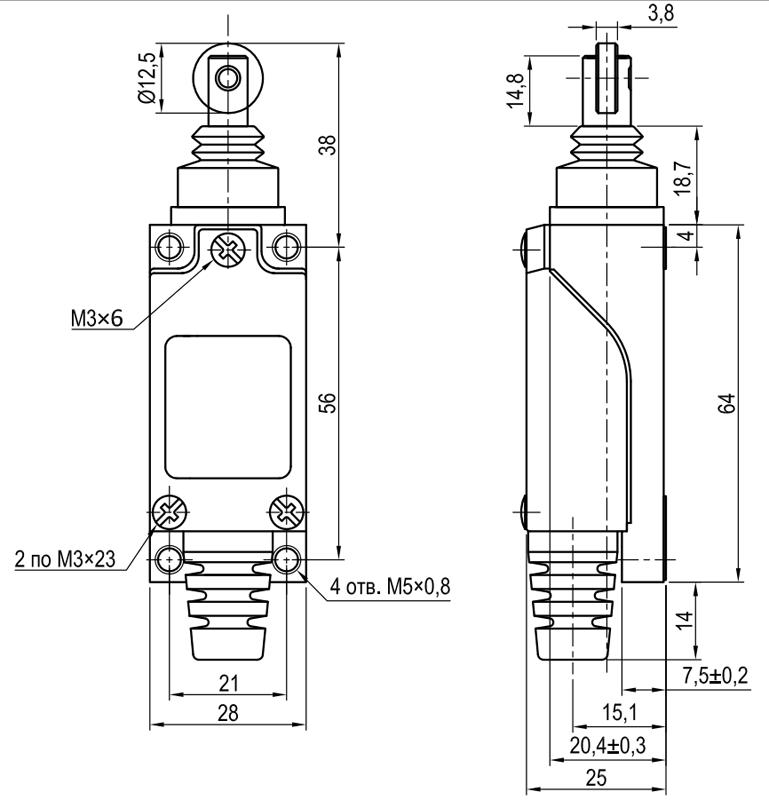Концевой выключатель KLS-AZ.8112