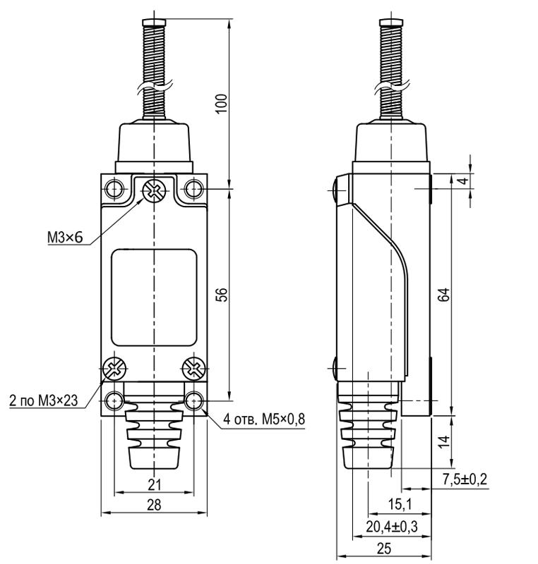 Концевой выключатель KLS-AZ.9101