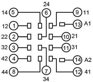 Колодки монтажные серий PYF-045BE